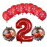 ENXI Globos Mcqueen Ellos 1 Set Autos Lightning 32 Pulgadas Números Balloon Set 13pcs / Set Movilización de automóviles Baby Boy Cumpleaños Fiesta de decoración Suministros ( Color : Emerald )