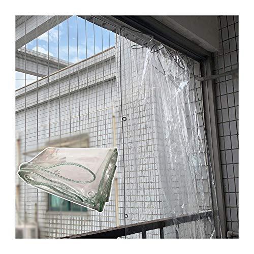 YJFENG 0,3 Mm PVC Transparente Panel Lateral De La Tienda, Impermeable Tarea Pesada Lona Alquitranada con Ojal, Impermeable A Prueba De Viento, para Jardín Pabellón (Color : Claro, Size : 1X3M)