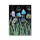 TEDDRA Arte de Pared Colorido Seta de Cristal botánico Moderno Arte Abstracto Cartel impresión Imagen Lienzo Pintura Sala de Estar decoración sin Marco