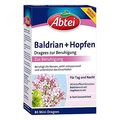 ABTEI Baldrian+Hopfen Dragees zur Beruhigung 80 St Dragees