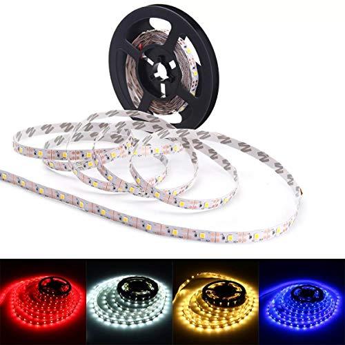 Navidad 5M USB LED Franja de televisión Luz de retroiluminación PC No-impermeable for la decoración casera SMD2835 DC 5V luces decorativas (Color : Red)