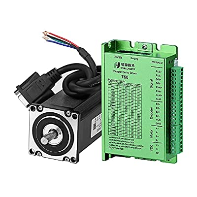 RTELLIGENT Nema 23 Stepper Closed Loop Servo Motor and Driver Kit 2 Phase 2.0NM(283.4oz.in) 4.0A 57 * 57 * 97mm with 30cm Cable + Encoder Extension Cable for CNC Machine