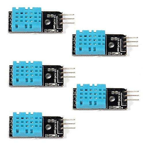 DollaTek 5PCS der Temperatur Feuchtigkeitssensor Modul Digital DHT11 für Arduino Himbeere Pi 2 3