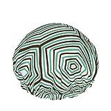 Bonnet de douche à motif de coquille de tortue ornée pour les femmes, 1 chapeau de douche...