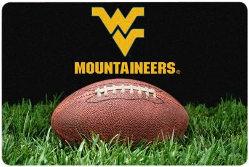 NCAA West Virginia Mountaineers Classic New item Pet Football Bowl Mat Limited Special Price L