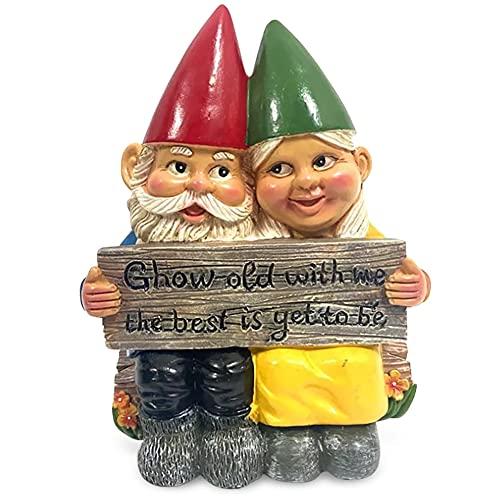 Gartenzwerge Figur, Joycabin Gartenzwerg Ornament, Gartenzwerg Statue Deko, Wetterfest Harzstatuen, Kunsthandwerk aus Harz Gartenzwerg