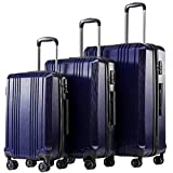 Travel Tolley Case Equipaje Maleta Set Spinner Mute Wheels Mujeres Hombres Equipaje con Ruedas 20 24 28 Pulgadas 3 Piece Set Blue 28'