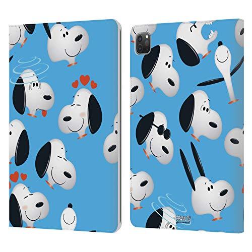 Head Case Designs Licenciado Oficialmente Peanuts Snoopy Patrones de Caracteres Carcasa de Cuero Tipo Libro Compatible con Apple iPad Pro 11 (2020/2021)