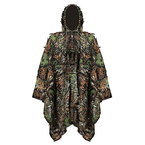 JFGX 3D Geely Clothing - eat Chicken Equipment Jungle Bionic Camouflage Cloak Hunting Camouflage Suit Breathable Camouflage Clothing