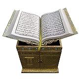 Huge Basket AM81 – Boîte Kaba Coran avec Rehal (doré) Grande taille