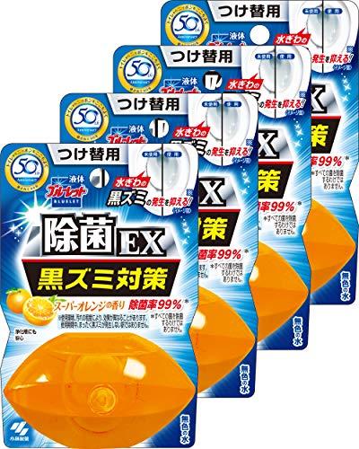 【まとめ買い】液体ブルーレットおくだけ除菌EX トイレタンク芳香洗浄剤 詰め替え用 スーパーオレンジの香り 70ml×4個
