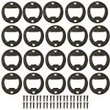 Bottle Opener Wall Mounted,100 Pack Stainless Steel Round Inset Bottle Opener Inset Kit Hardware Parts DIY kit with Screws