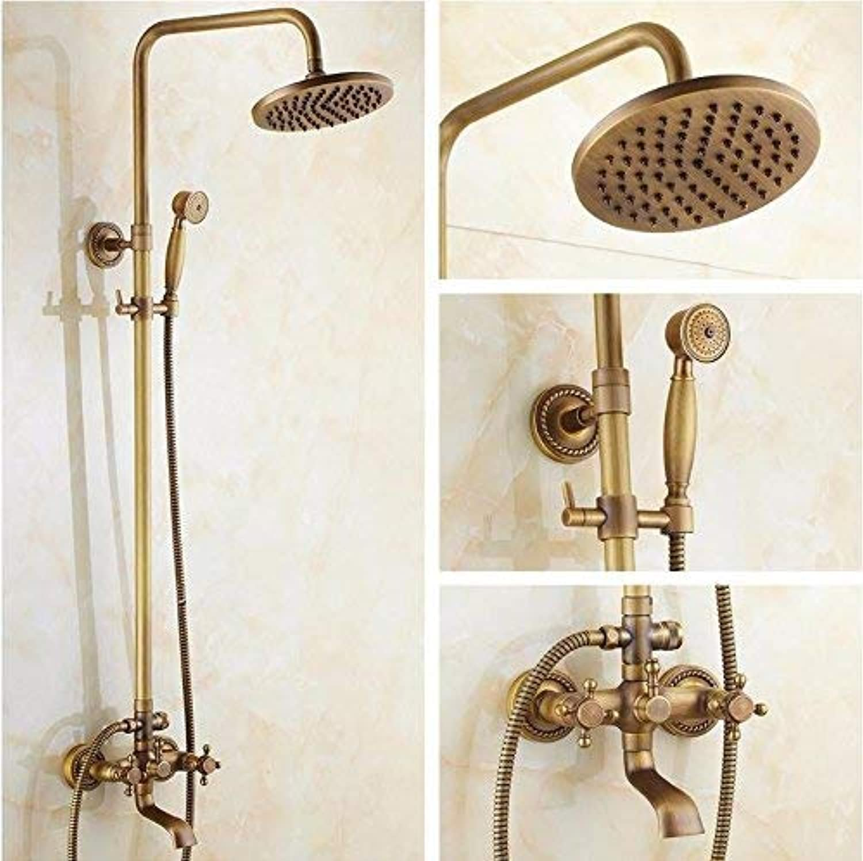 GFF Dusche dusche Kupfer antiken europischen duschset Bad dusche Lift multifunktions Wasserhahn handbad dusche mischbatterie