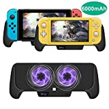 Cooling Charging Grip for Nintendo Switch/Switch Lite, Multifunctional 4 in 1 Gaming Grip with Charger Stand...