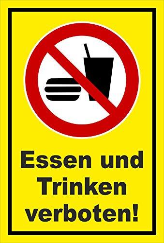 Melis Folienwerkstatt Aufkleber - Essen Trinken verboten - 15x10cm – S00355-045-C 20 VAR