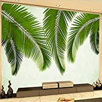 MAZFファッションモダンなヨーロッパのバナナの葉熱帯の葉ソファ背景壁画カスタム大きな壁画緑の壁紙