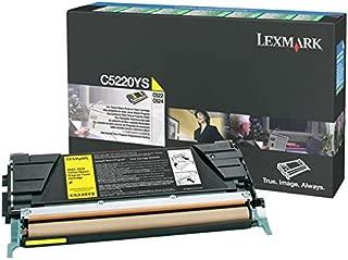 Lexmark C5220YS C522 C524 Laser Toner Cartridge (Yellow) in Retail Packaging