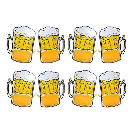 Amosfun 4pcs Gafas de Sol Divertidas de la Fiesta de la Cerveza Jarra de Cerveza anteojos Gafas de Fiesta Tropical celebración Fiesta Favor para cumpleaños Boda Carnaval Fiesta Suministros