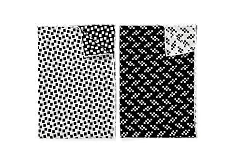 Areaware BITMAP Textiles - 2 Geschirrtücher aus Baumwolle | Susan Kare Schwarz/Weiß | Style: Bits&Static
