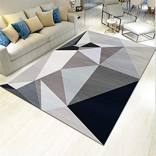 SONGHJ Alfombra De Poliéster Geométrico Abstracto Impreso Sofá Rectangular Manta De Mesa De Café Alfombra De La Habitación del Hogar L 140X200cm