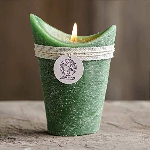 OM HOME Vela de Soja ecológica sin Humo perfumada Matcha 30