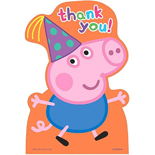 Postcard Thank You Cards | Peppa Pig Collection | Party Accessory
