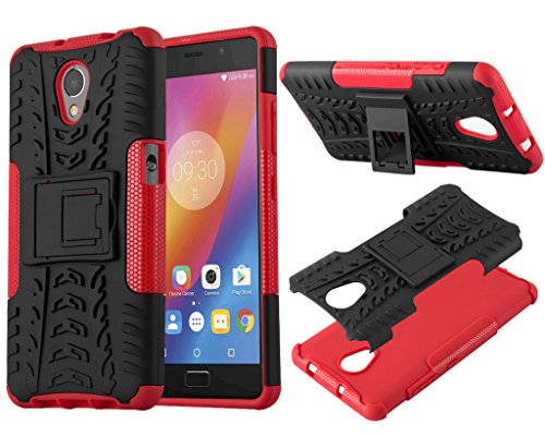 Lenovo Vibe P2 P2A42 New Red Shock Proof Builder Stand Phone Case Cover + Screen Protector For Lenovo Vibe P2 P2A42