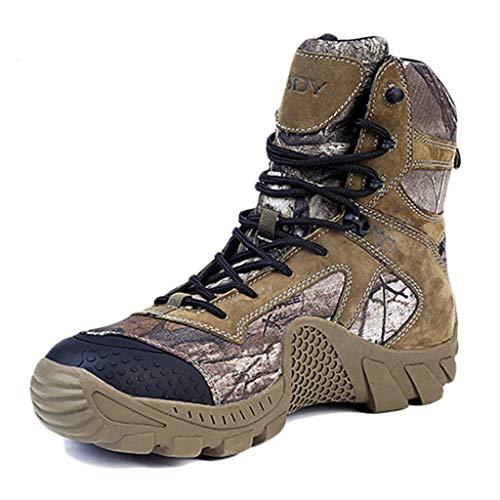 Wygwlg Botas Militares para Hombres Botas de Combate de acción de Cuatro Estaciones Botas tácticas duraderas del Desierto Botas Impermeables de montañismo Fuera de la Carretera,Camouflage-42