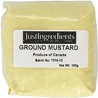 JustIngredients Essential Mostaza Molida - 5 Paquetes de 100 gr - Total: 500 gr