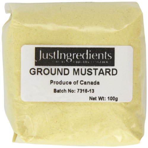 JustIngredients Essential Mostaza Molida - 5 Paquetes de 100 gr - Total: 500 gr