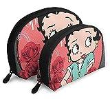Betty Boop - Neceser de maquillaje profesional, bolsa de viaje, bolsa de aseo de belleza, bolsa organizadora para mujer