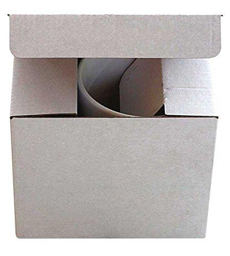 Jenpack Tassenverpackung 120x90x100 mm – weiß/Braun OHNE Sichtfenster (50)