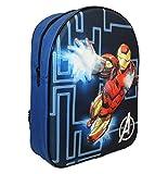 Marvel Eva Iron Man Kinder Rucksack, 32 cm, 9 Liter, Schwarz