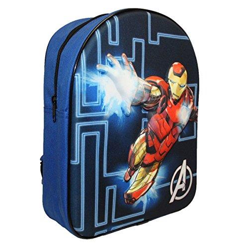 mächtig der welt Marvel Eva Iron Man Kinderrucksack, 32 cm, 9 Liter, schwarz
