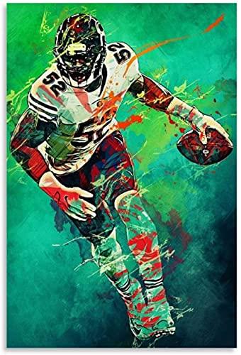 ZRRTTG Wall Art Canvas Prints KHALIL MACK Gift for boyfriend Artwork Painting Poster Walls 15.7'x23.6'(40x60cm) NO FRAME