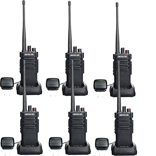 Retevis RT29 2 Way Radios Walkie Talkies Long Range High Power UHF Heavy Duty Long Distance Two Way Radios Rechargeable with VOX Alarm(6 Pack)