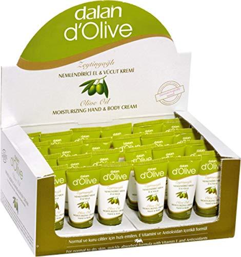 24 x Dalan d'Olive Hand & Körper Feuchtigkeitscreme für normale bis trockene Haut (24 x 20ml) SPARPACK