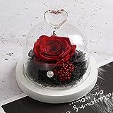 Fleurs Artificielles Décoratives Roses Never Withering Roses Fleurs Immortelles Copines Cadeaux De La Saint-Valentin Anniversaire De La Fête des Mères Anniversaire Rouge