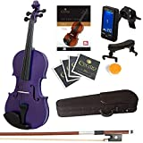 Best Full Size Violins - Mendini Full Size 4/4 MV-Purple Solid Wood Violin Review