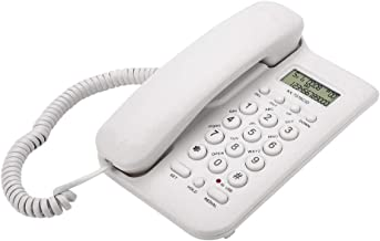 $24 » Wired handset Wall Phone, Home Hotel Wired Desktop Wall Phone Office Landline Telephone, Supports FSK/DTMF Dual System, Nu...