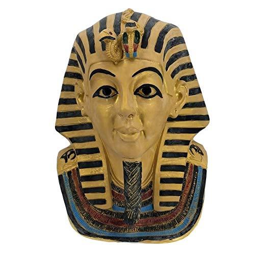 Divertida mscara de faran egipcio de Dios, fabulosa mscara realista, disfraz de cosplay, fiesta de Halloween, maravilloso disfraz