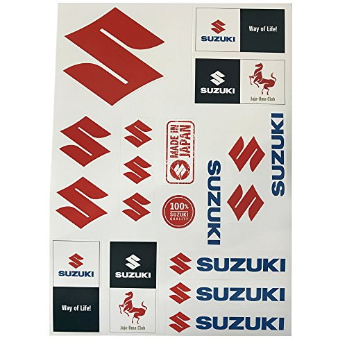 Suzuki Sticker Set ! 2 Bögen ! Aufkleber Set ! Sticker KIT
