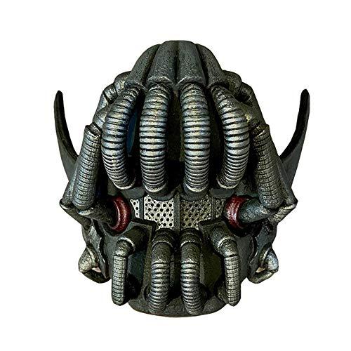Bane Halbmaske Für Erwachsene, The Dark Knight Rise Bane Halbgesichtsmaske Requisiten Halloween Maske Cosplay Kostüm Latex Schwarz