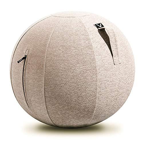 山崎実業(Yamazaki) シーティングボール ルーノ シェニール ベージュ 約65×65×65cm Vivora LUNO CHENILLE 802