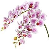 Famibay Flor Artificial Orquidea Mariposa Ramo de Orquideas Púrpura Flores Boda Hogar Decoración