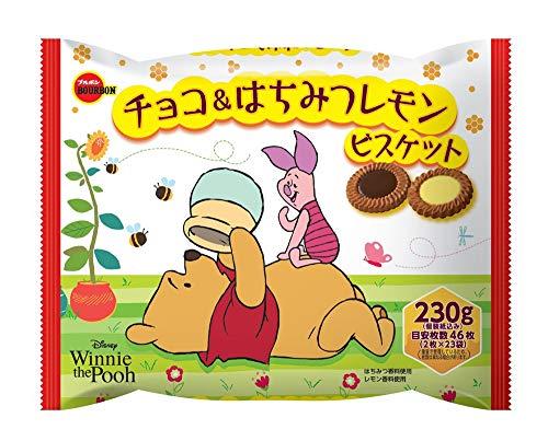 ブルボン チョコ&はちみつレモンビスケットFS(くまのプーさん) 230g ×12袋