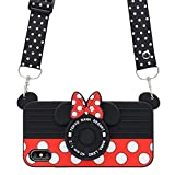 MC Fashion iPhone X Case, Cute 3D Minnie Mouse Polka Dots Camera Case for Teens Girls Women, Shockproof and Protective Soft Silicone Phone Case for Apple iPhone X/iPhone Xs 5.8-Inch