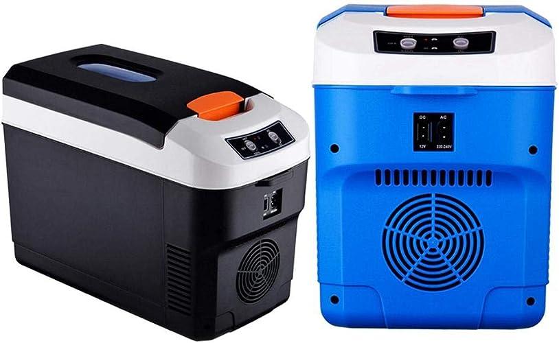 Sunronal 10L Petite Voiture Réfrigérateur portable Mini Réfrigérateur électrique Boîte De RefroidisseHommest Double Tension De Voiture Refroidisseur pour Camping en Plein Air Réfrigérateur
