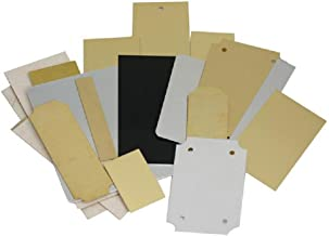 Engraving Plate Assortment - 20 Piece Aluminum and Brass Stamping