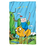 "Jake & Finn -- Adventure Time -- Fleece Throw Blanket (36"" x 58"")"